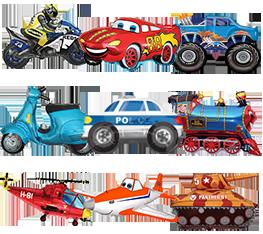 Μπαλόνια Αυτοκίνητα Μοτό Φορτηγά