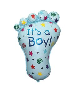 Balloon supershape Flexmetal footprint boy