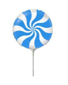 Balloon Candy Flexmetal blue Minishape
