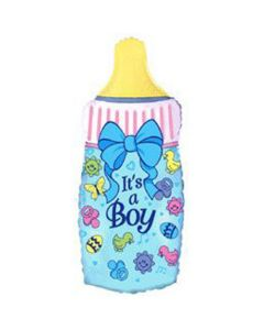 Balloon foil flexmetal supershape bottle baby boy