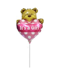 Balloon minishape Bear heart Girl ND