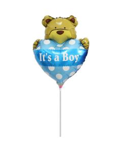 Balloon minishape Bear heart boy ND