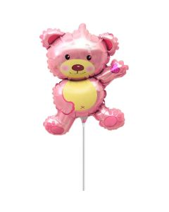 Balloon minishape BF bear pink ND