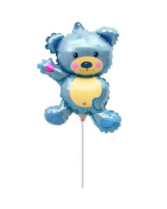 Balloon minishape BF bear light blue ND