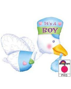 Anagram multiballoons stork it's a boy