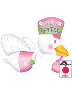 Anagram multiballoons stork it's a girl