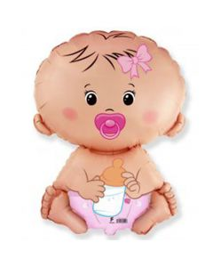 Balloon Flexmetal supershape Baby Pink
