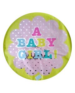 Μπαλόνι 18 inch foil Baby girl dots ND