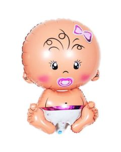 Balloons supershape baby girl ND