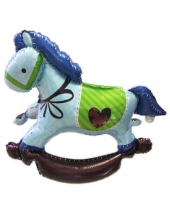 Carouzel horse light blue 3d
