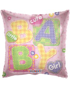 Balloon foil 18 inch cute little girl ND