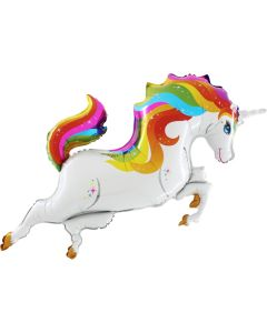 Unicorn supershape rainbow color Grabo
