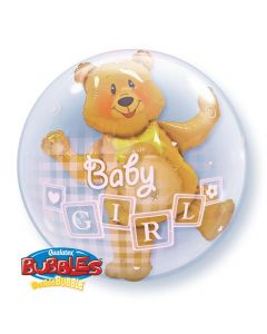 Bubble διπλό Baby girl Blocks and bear