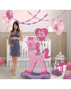 Μπαλόνια Anagram Airwalker rocking horse pink