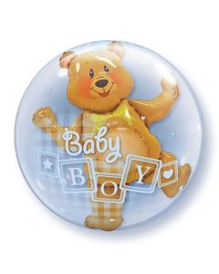 Bubble διπλό Baby Boy Blocks and bear