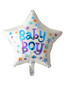 Balloon foil 18 inch star baby boy BF packed