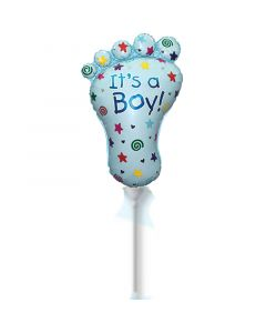 Balloons Flexmetal 9 inch foot it's a boy minishape