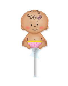Balloon baby girl minishape flexmetal