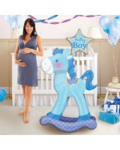 Μπαλόνια Anagram Airwalker rocking horse blue