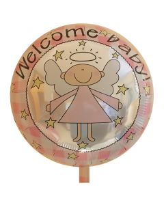 Balloon foil 18 inch welcome baby girl Angel