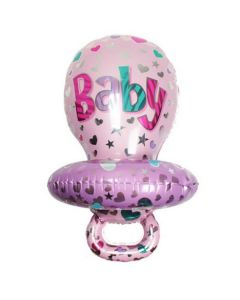 Balloon supershape pacifier girl ND
