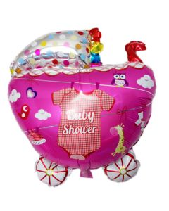 Balloon Supershape stroller shower girl ND
