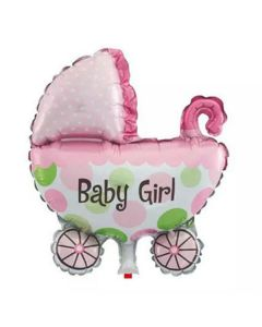 Balloon foil supershape stroller baby girl