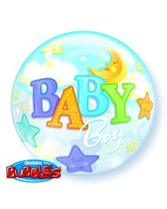 Bubble μονό Baby Boy Moon and Stars ND