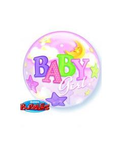 Bubble μονό Baby Girl Moon and Stars ND