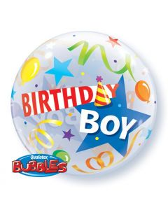 Bubble μονό Birthday Boy Party Hat ND
