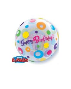 Bubble Birthday Cupcake and Dots