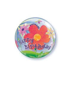 Bubble Μονό Birthday Funky Flowers ND