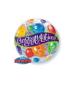Bubble μονό Congratulations Balloons ND