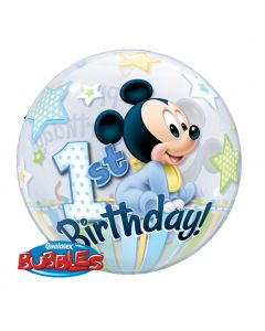 "Bubble Μονό Mickey 1st Birthday 22"" ND"