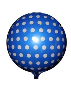 Balloon foil BF 18 inch polka dot blue
