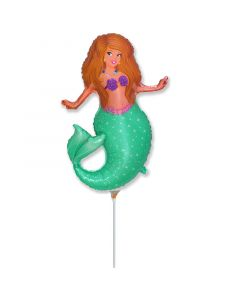 Balloons foil 9 inch Flexmetal Pretty mermaid