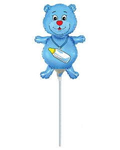 Balloons foil 9 inch FLEXMETAL bear light blue