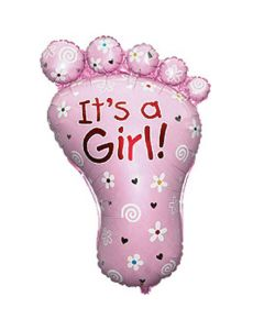 Balloon supershape Flexmetal footprint girl