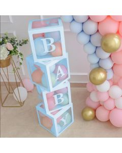 Balloon Baby box light blue 4 pcs