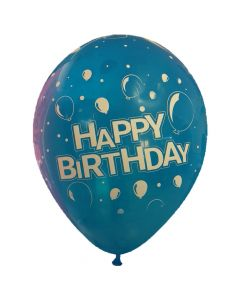Μπαλόνια 12'' Happy birthday New with balloons  all around τύπωμα