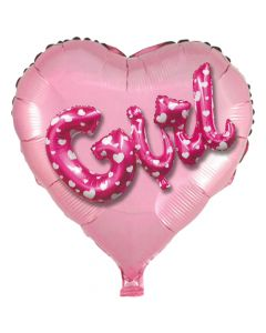 Balloon 36 inch heart multiballoon GIRL