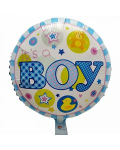 Round balloon 18 inch It's a boy with little duck