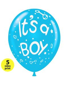 Balloons 12 inch It's a Boy  (2)  | 100pcs  |  5 sides print