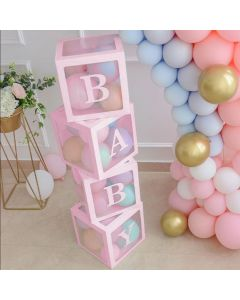 Balloon Baby box Pink 4 pcs