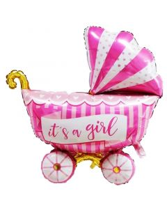 Balloon Foil stroller, It's a girl