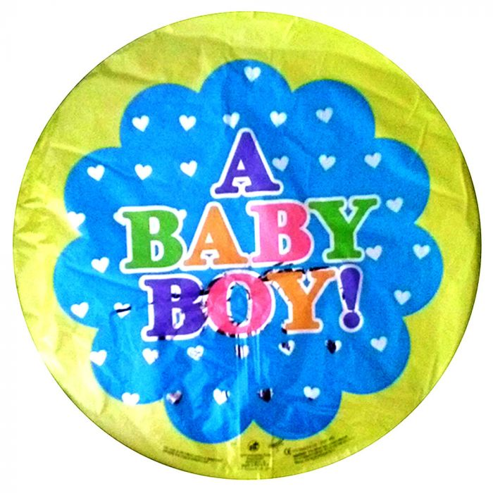 Μπαλόνι 18 inch foil Baby boy dots ND